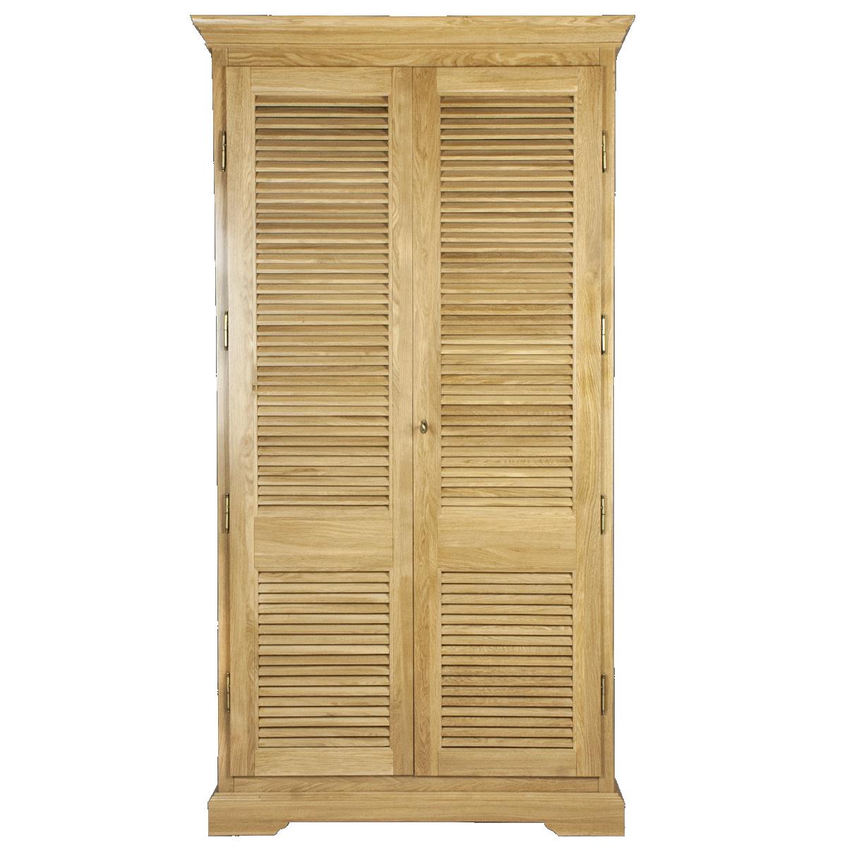 Шкаф для одежды из массива дуба Скелетон